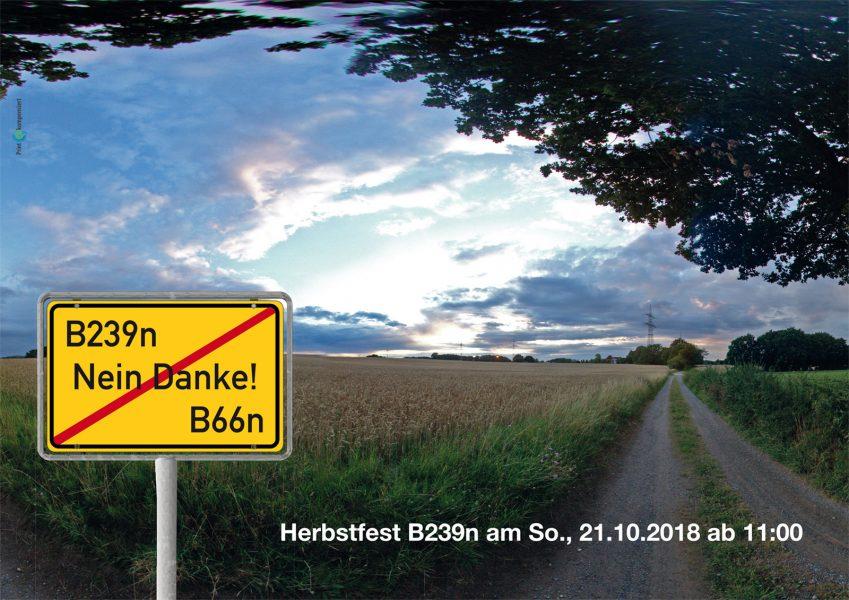 Herbstfest B239n - Nein Danke am Sonntag, dem 21.10.2018 ab 11:00 Uhr in Lage Ehrentrup